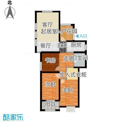 金榜府邸126.00㎡A1户型3室2厅1卫