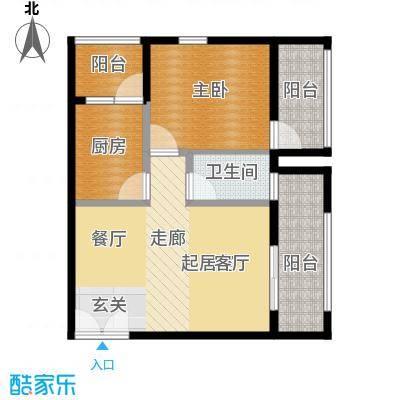 乐府国际公寓76.68㎡C1户型1室1厅1卫