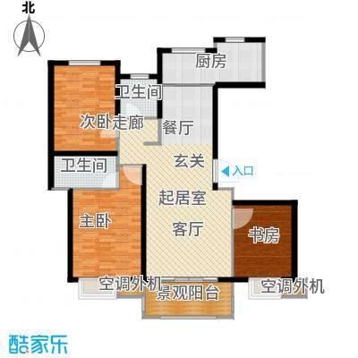 金榜府邸142.00㎡C1户型3室2厅2卫