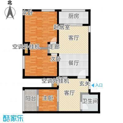 华夏世纪广场户型3室1厅1卫1厨