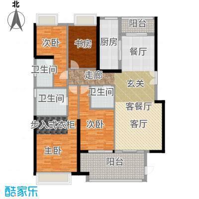 御东雅苑154.78㎡A1公寓户型4室1厅3卫1厨