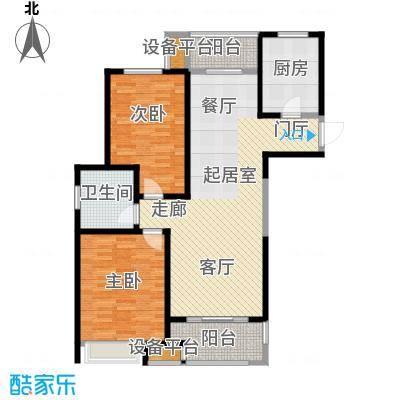 苏宁天�御城幸福美家103.63平户型2室2厅1卫