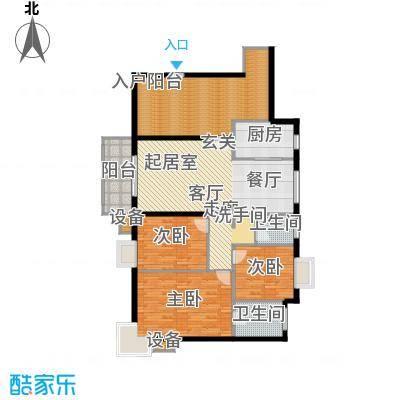 上海城141.00㎡3-17楼层 精巧三房户型