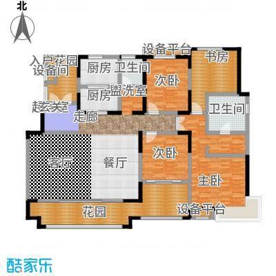 华润仰山・红叶林195.00㎡四室两厅两卫户型4室2厅2卫