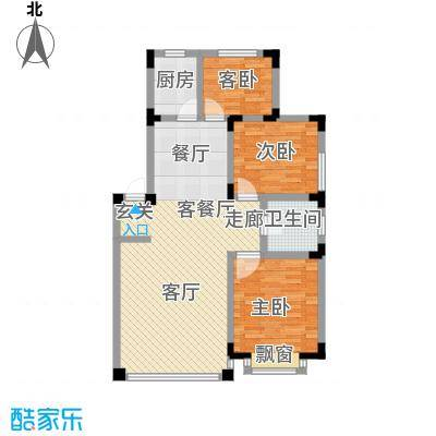 渤海玉园111.78㎡G户型3室2厅1卫