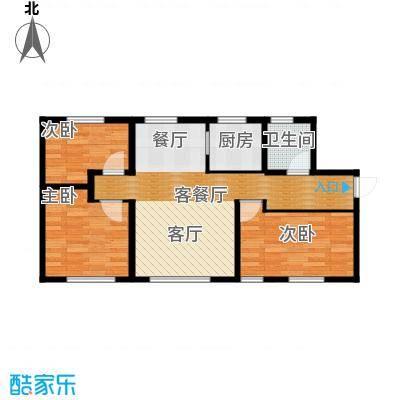 君豪御园115.25㎡F户型3室2厅1卫