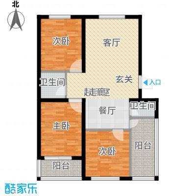 建新御景园户型3室2卫