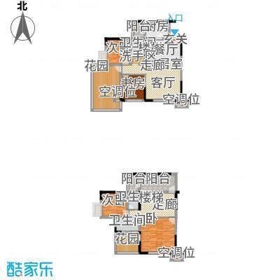 黄河畔岛户型4室3卫1厨