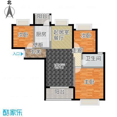 合景・瑜翠园98.00㎡C户型3室2厅1卫