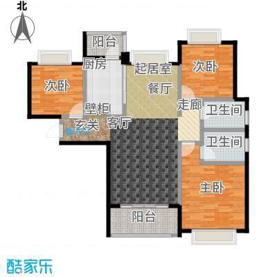合景・瑜翠园户型3室2卫1厨