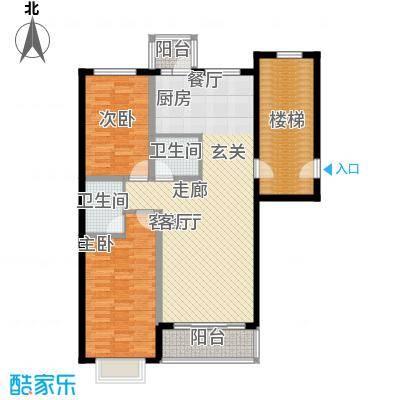 俪城103.50㎡两室两厅两卫户型
