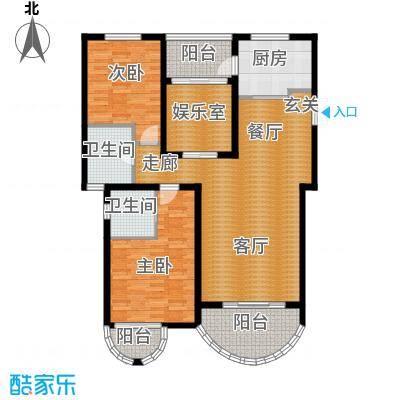 郦城国际户型2室1厅2卫1厨