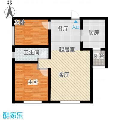 天津华纳瑞都小区户型2室1卫1厨