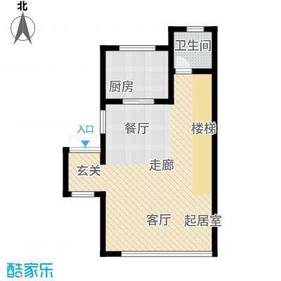 佳兆业东戴河58.95㎡别墅户型10室