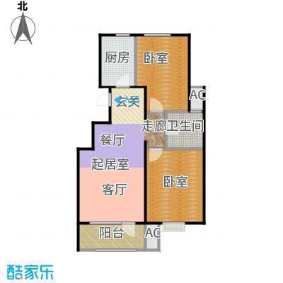 金隅满堂90.00㎡90㎡两室两厅一卫户型2室2厅1卫