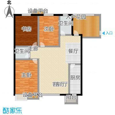 高新名门159.88㎡A座1单元a户户型3室2厅2卫