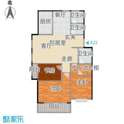 悦来山水居139.00㎡多层洋房户型-C户型3室2厅2卫