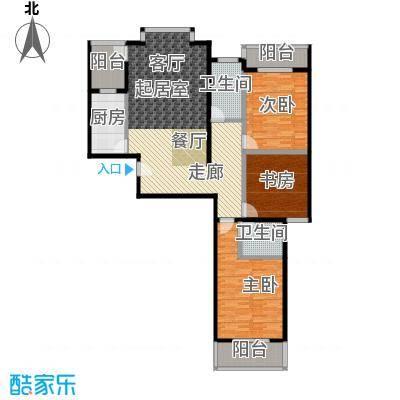 水韵江南135.46㎡面积约:135.46平方米户型3室2厅2卫