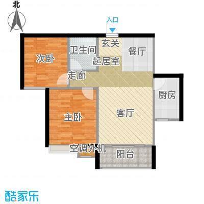 南飞鸿天锦9#D户型2室1卫1厨