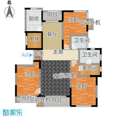 锦尚天华户型3室2卫1厨