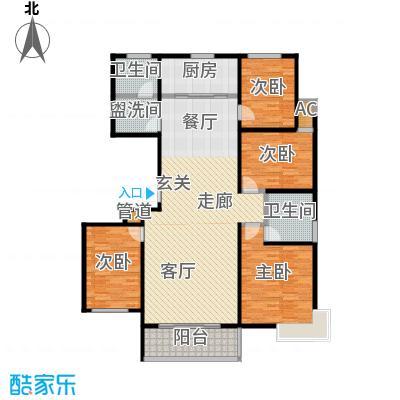 瓯江现代城158.00㎡B1户型4室2厅2卫LL