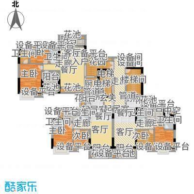 旺城壹号碧湾轩奇数层04-06单位户型