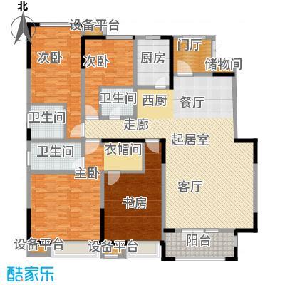 天安珑园209.00㎡洋房C户型4室2厅3卫