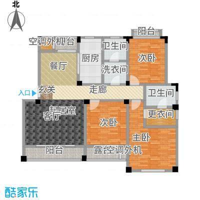 锦尚天华140.02㎡G户型3室2厅2卫