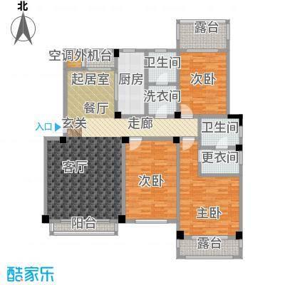 锦尚天华150.01㎡F户型3室2厅2卫