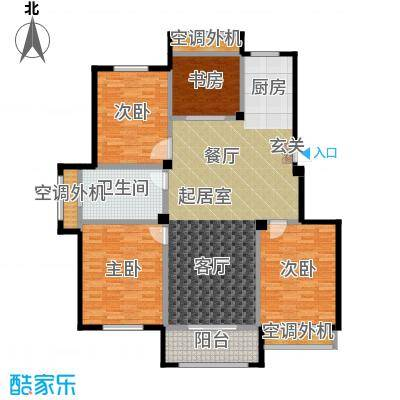 御景豪庭140.00㎡33#、36#E户型3室2厅1卫