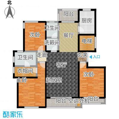 锦尚天华6# B户型3室2厅2卫