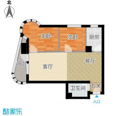 山海同湾73.00㎡6号楼户型10室