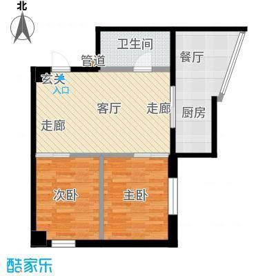 银河国际项目78.41㎡两室一厅一卫户型LL