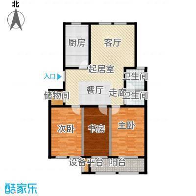 明佳花园115B户型3室2厅1卫