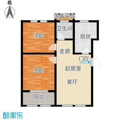 明佳花园85B户型2室1厅1卫