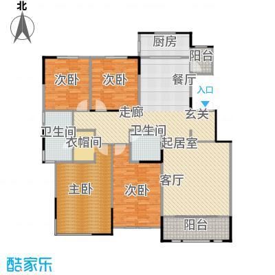 融侨观邸4号楼4-5层户型3室2厅2卫