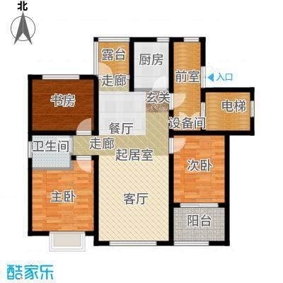 状元府邸90.00㎡90型E户型3室2厅1卫