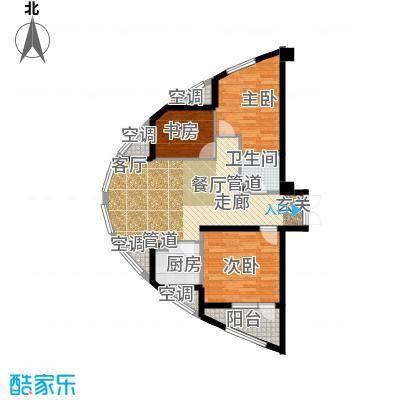 万马滨河城1919万马滨河城户型3室1厅1卫1厨