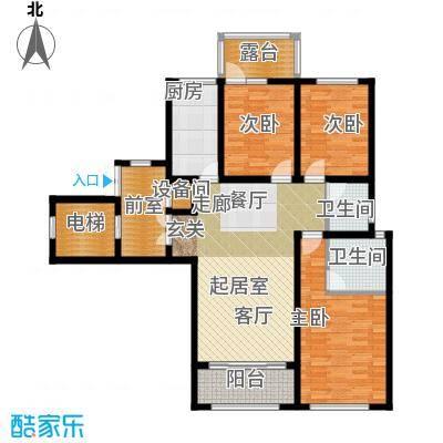 状元府邸110.00㎡110型F3户型3室2厅2卫