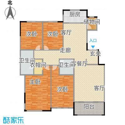 融侨观邸4号楼2层户型2室1厅1卫
