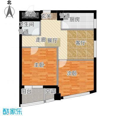 万马滨河城1919万马滨河城户型2室1厅1卫1厨