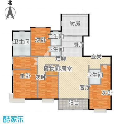 融侨观邸8号楼3层户型3室2厅2卫