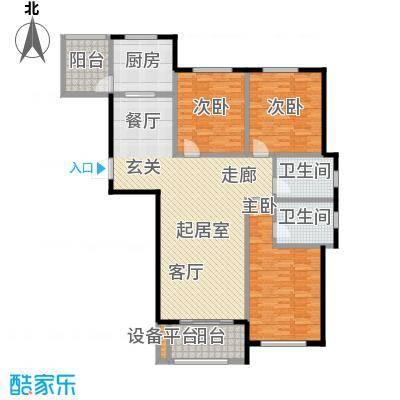 海洋城141.00㎡E3-7户型 1-9层户型3室2厅2卫