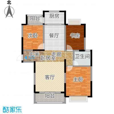 新湖明珠城118.00㎡H2户型3室2厅1卫