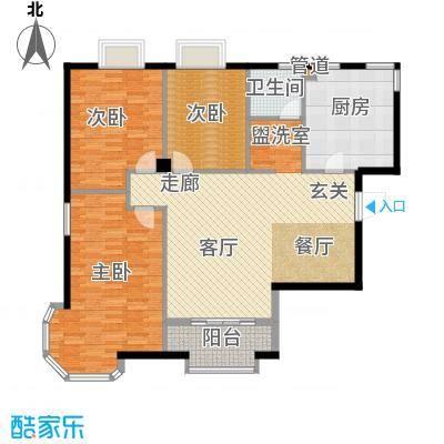 天籁华都123.00㎡123平米户型3室2厅1卫