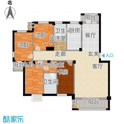 天籁华都146.00㎡146平米户型4室2厅2卫