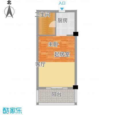 徽州庄园49.58㎡A4-A9户型图 49.58平米户型1室1厅1卫