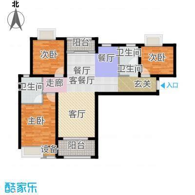 扬州国际公馆108.00㎡二期蓝山B1户型――设计师户型3室2厅2卫