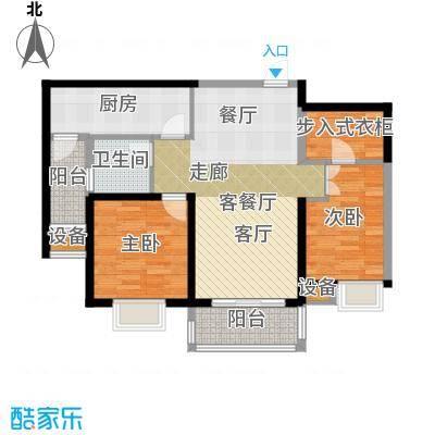 扬州国际公馆A1常青藤户型2室1厅1卫1厨
