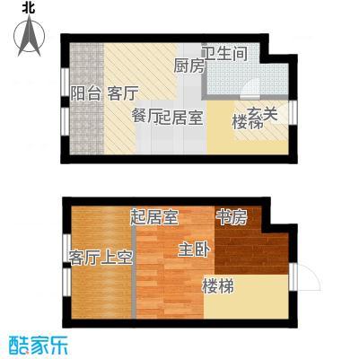 中海御湖翰苑D 45-47平米户型